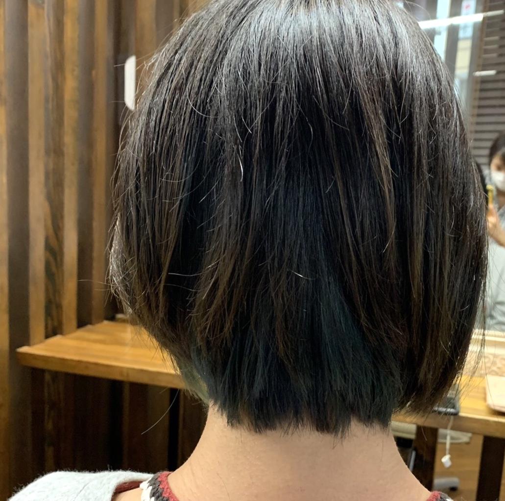 インナーカラー ブルーグリーン